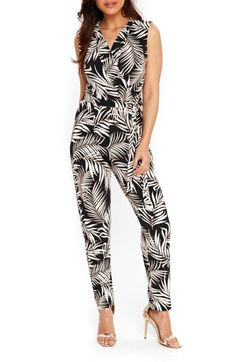 Free shipping and returns on Wallis Palm Print Jumpsuit at Nordstrom.com. A monochromatic palm print puts a modern tropical twist on a chic and easy jumpsuit in soft stretch knit with a slim-leg cut.