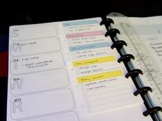 Corrie Haffly's printable organizer forms Great method for keeping track of tasks, and being able to move the tasks freely between weeks.