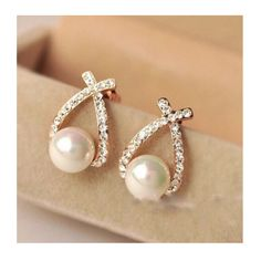 A personal favorite from my Etsy shop https://www.etsy.com/listing/267871925/on-sale-pearl-stud-earrings-shiny