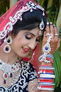 #reception#modern#jewelry Bride Portrait, White Necklace, Indian Bridal, Modern Jewelry, Happy Day, Bridal Jewelry, Reception, Wedding Day, Fashion Jewelry