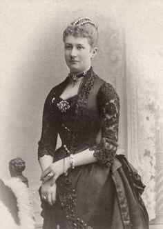 """carolathhabsburg:  """" Kaiserin Augusta Viktoria of Prussia. Late 1880s.  """""""