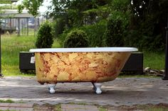 1940 Refinished 4.5' Clawfoot Bathtub Vintage Churlish Green Cast ...