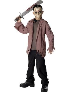 Friday the 13th Jason Voorhees Teen Costume | Wholesale TV & Movie Halloween Costumes for Boys