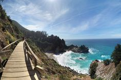 Path to McWay Falls at Julia Pfeiffer Burns State Park in Big Sur, CA