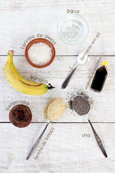 Panqueca vegana (sem açúcar) + corante natural   Como fazer   herbi-voraz.com #panqueca #panquecavegana #vegano #semaçúcar #sobremesa #snack #receitapanqueca