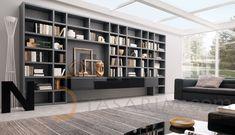 kitaplık duvar ünitesi tasarımları ve dekorasyonu