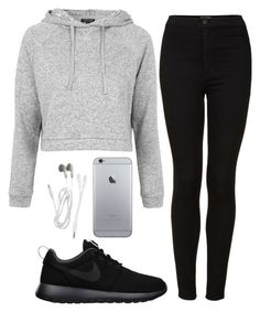 """""""Hang out with Friends"""" by maevaxstyle ❤ liked on Polyvore featuring Topshop, NIKE, women's clothing, women, female, woman, misses and juniors"""