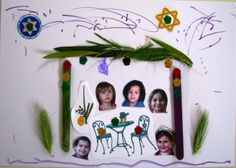 A child's Sukkah collage – craft for Sukkot