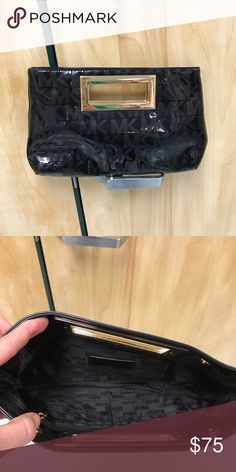 Precious Michael Kors clutch! Beautiful black patent leather clutch. Authentic Michael Kors. I purchased for a wedding I was attending and never used it again. It is in perfect condition!! Michael Kors Bags Clutches & Wristlets