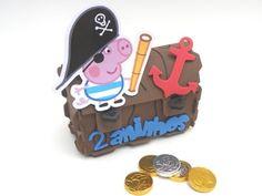 Baú George Pig Pirata-cortes para montar  www.petilola.com.br