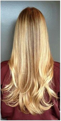 Caramel Blonde Highlights | honey blonde highlights