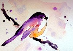 really cute bird watercolor- as inspiration to myself!