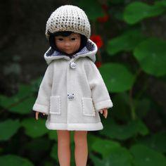 vêtements manteau et bonnet pour poupée type les Chéries de Corolle 32/33 cm