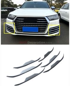 88.64$  Buy here - http://aliqfr.worldwells.pw/go.php?t=32694293193 - New Arrival !!! For Audi Q7 2016 2017 ABS Front Fog Lamp Light Decorative Lid Trim 6pcs 88.64$