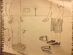 The original drawing for the Bully Glove ad