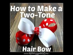 How to Make a Two-Tone Hair Bow - Hairbow Supplies, Etc. - YouTube