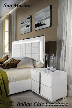San Marino Bedroom Furniture Set Quality Italian Made Chic Furniture  Available From Italian Chic Furniture UK