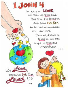 Doodle Through The Bible: 1 John 4 Free printable PDF Coloring page link at the website. Also visit the new FACEBOOK page!