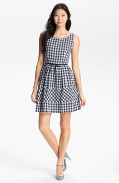 My mom surprised me with this in the mail, cute! Taylor Dresses Gingham Fit & Flare Dress | Nordstrom