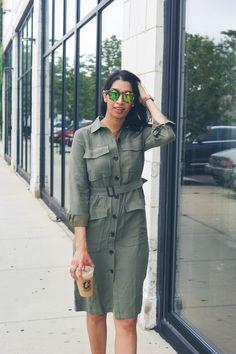 green loft dress