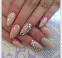 Oval nude nails❤️