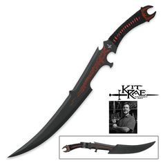 Kit Rae – Swords Of The Ancients Mithrokil Short Fantasy Sword Black Edition Katana Swords, Knives And Swords, Kit Rae, Ninja Gear, United Cutlery, Ninja Weapons, Fantasy Sword, Black Edition, Cold Steel