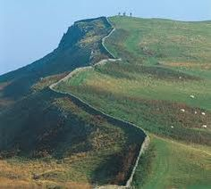 Hadrian's wall  - built to keep us unruly Scots in check!!
