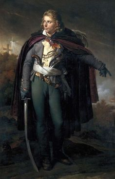 Anne Louis Girodet de Roussy-Trioson. Painting of Jacques Cathelineau, a leader of the catholic revolt in La Vendee.