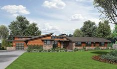 Stunning Contemporary Ranch Home Plan - 69510AM | Architectural Designs - House Plans