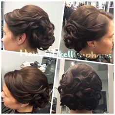 Bridal updo hair by Kelli Uphaus