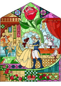 coloring pages - BUY 2 GET 1 FREE! Beauty and the Beast Disney Stained Glass 108 Cross Stitch Pattern Counted Cross Stitch Chart,Pdf Art Disney, Disney Kunst, Disney Crafts, Disney Love, Disney Magic, Disney Pixar, Disney Stained Glass, Stained Glass Art, Beauty And The Beast Party