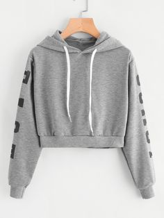 New Style Harajuku Hoodies Womens Autumn Long Sleeve Hoodie Sweatshirt Letters Hooded Pullover Tops XS-XL sudaderas mujer 2018 Girls Fashion Clothes, Teen Fashion Outfits, Outfits For Teens, Girl Outfits, Clothes For Women, Women's Fashion, Fashion Dresses, Fashion Trends, Crop Pullover