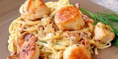 Laissez-vous séduire par sa sauce crémeuse et son bacon Veggie Side Dishes, Fish Dishes, Side Dish Recipes, Bacon Scallops, Pan Seared Scallops, Seafood Recipes, Paleo Recipes, Cooking Recipes, Yummy Recipes
