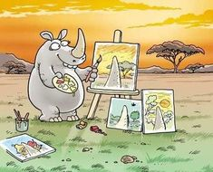 "so ""Gary Larson""!!  I miss his cartoons! - oulik!"