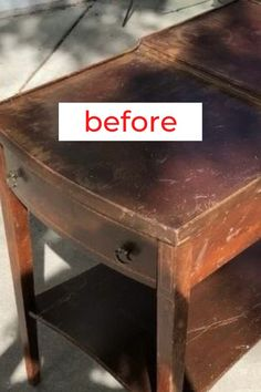 Upcycle old side table to make an awesome superhero nightstand for kids room. Painted furniture upcycle idea. Furniture makeover idea on a budget. Check out before and after furniture flip idea. #hometalk #sidetablemakeover #furnitureupdate