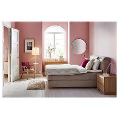 MJÖLVIK Divan bed - Hyllestad firm, Tussöy beige - IKEA Mattress Springs, Mattress Pad, Mattress Covers, Bed Base, Double Beds, Solid Pine, Linen Bedding, Beige, Furniture