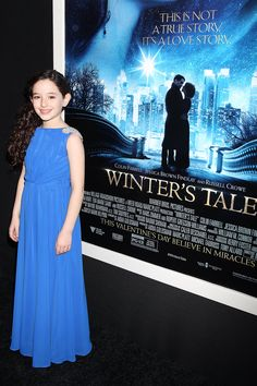 "Mckayla Twiggs at her Movie Premier for ""winters tale"" wearing a Pantora custom gown can easily be customized fur a flower girl or communion dress!"