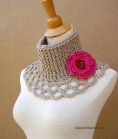 Virginia- Wool Scarflette-Linen