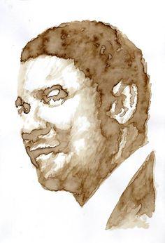 Titolo: Denzel Washington Tecnica: Caffè Tempo d'esecuzione: 21 minuti #portrait #art #DenzelWashington