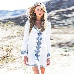 f1ad2f7a9257 23 Best White Boho Dresses images   White boho dress, Boho outfits ...