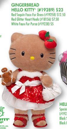 Sweet Sequin Gingerbread Hello Kitty- Build-A-Bear Workshop Hello Kitty Plush, Hello Kitty Items, Hello Kitty Christmas, Kawaii Plush, Miss Kitty, Hello Kitty Collection, Hello Kitty Wallpaper, Build A Bear, Bear Toy