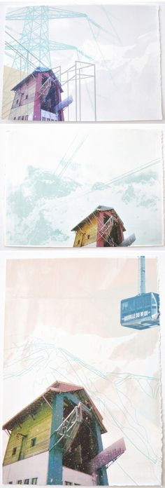 "emily moore - screenprints from ""chamonix"" series"