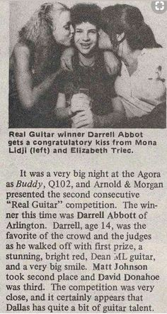 It's  BABY Dime! Dimebag Darrell, Rock Music, Music Love, Thrash Metal, Metalhead, Metal Bands, Hard Rock, Pantera Band, Rock N Roll
