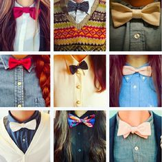 Girls with bow ties