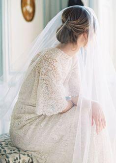 Esther Sun Elegant Wedding Hair, Wedding Bride, Parisian Wedding Dress, Blue Wedding, Bridal Looks, Bridal Style, Making A Wedding Dress, Wedding Photo Inspiration, Bridal Dresses