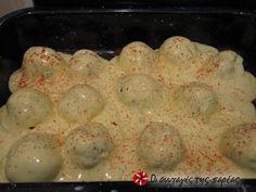 Κεφτέδες στο φούρνο με σάλτσα γιαουρτιού #sintagespareas