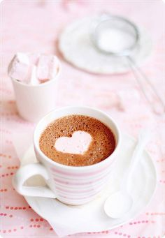 Hot Chocolate & Marshmallows by bossacafez, via Flickr Aline for pink dreams