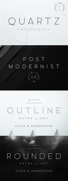 Quartz Grotesque is a modern minimalist's dream because it is so simple & clean. Paired with other fonts or stand alone, this font is perfect for logo design, displays, invitations, labels, signage, magazines, and much more. It instantly gives your product a luxury feel.  #font #typeface #typegang #typespire #typematters #type #fontdesign #typography #graphicdesign #typographyinspire #script #handmadefont