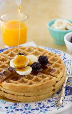 gluten free crispy oatmeal waffles
