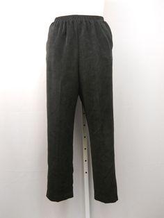 f8b6685d263b4 Alfred Dunner Pants Size 16 Black Proportion Medium Straight Legs Corduroys   AlfredDunner  Corduroys Junior